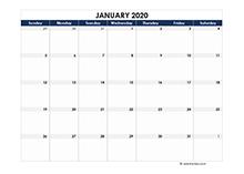 2020 Pakistan Calendar Spreadsheet Template
