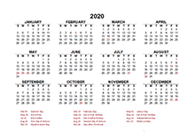 2020 Pakistan calendar template with public holidays