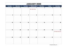 2020 calendar Philippines spreadsheet template