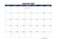 2020 UAE Calendar Spreadsheet Template