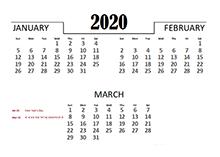 2020 UAE Excel Quarterly Calendar