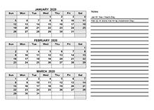 2020 quarterly calendar pdf