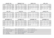 2020 Yearly Calendar With South Africa Holidays