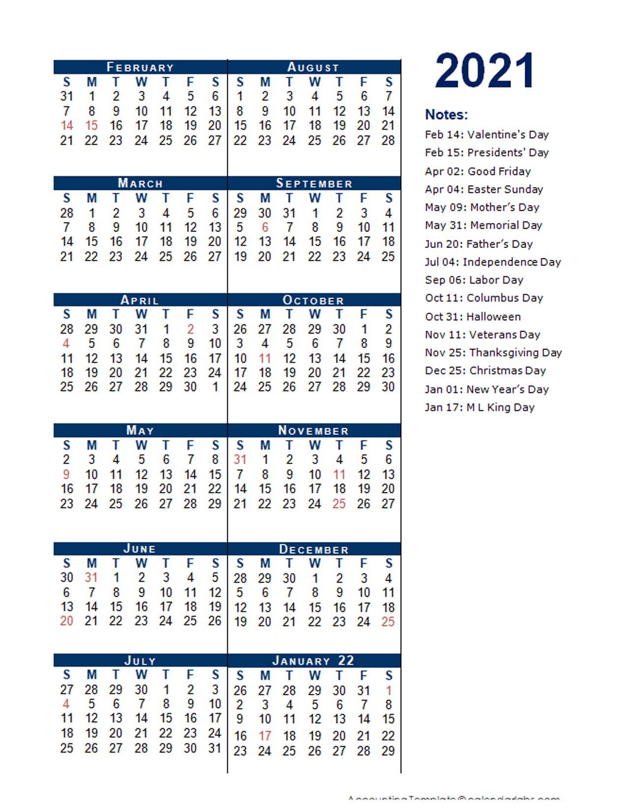2021 Fiscal Period Calendar 4-4-5 - Free Printable Templates