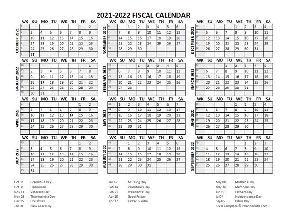 Printable School Calendar 2021-22 Fiscal Calendar 2021 22 templates   Free Printable Templates