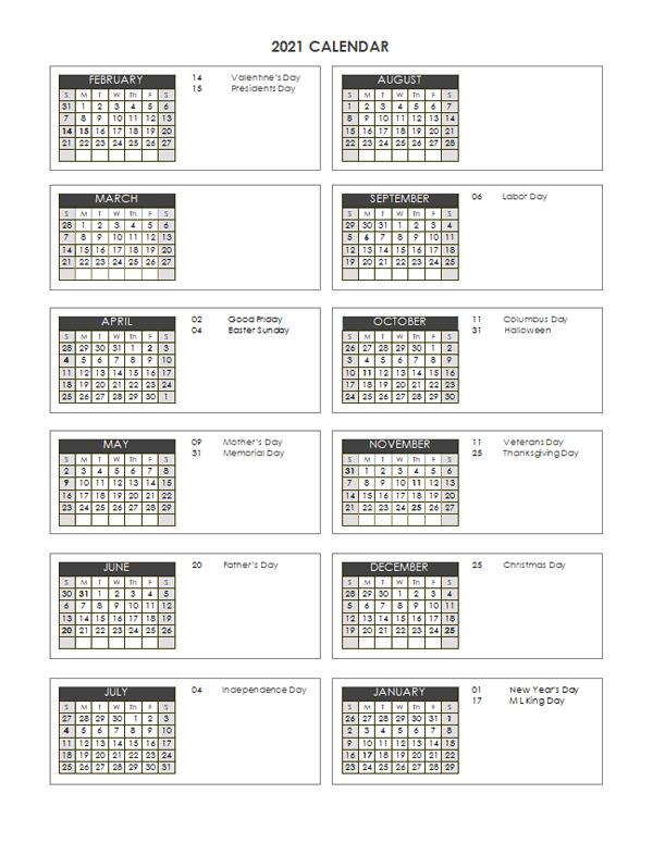 2021 Accounting Close Calendar 4-4-5