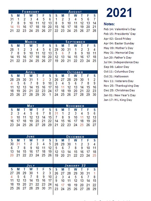 2021 Fiscal Period Calendar 4-4-5