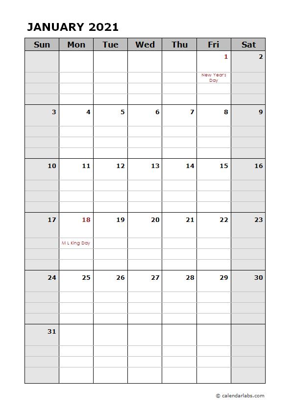 2021 Daily Planner Calendar Template