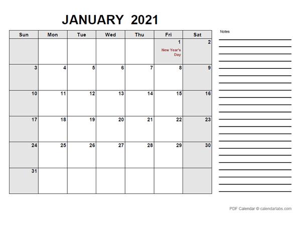 2021 Calendar with Hong Kong Holidays PDF