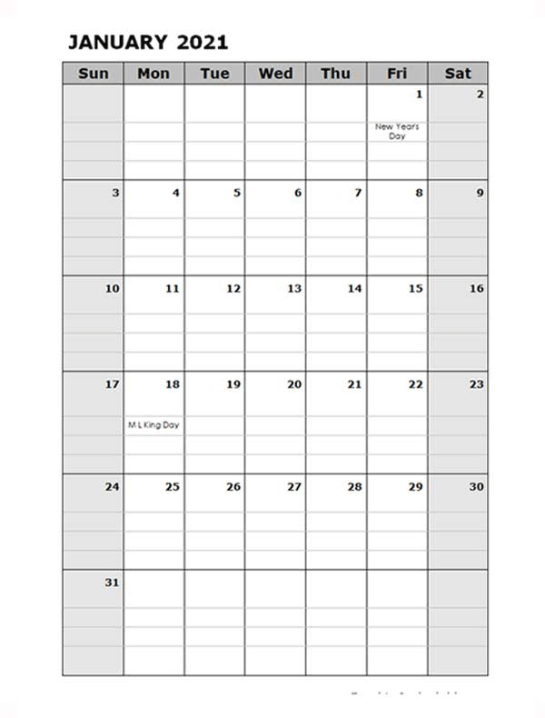 2021 Daily Planner Microsoft Word Template