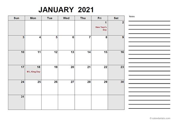 2021 Free Calendar PDF