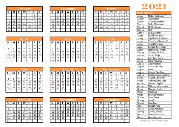 Hindu Festival Calendar 2021 2021 Hindu Festivals Calendar Template   Free Printable Templates
