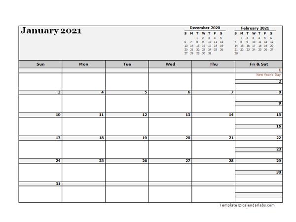 2021 Hong Kong Calendar For Vacation Tracking