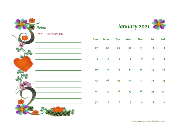 2021 Hong Kong Calendar Free Printable Template