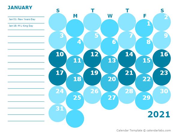2021 Monthly Colorful Calendar for Kindergarten - Free ...