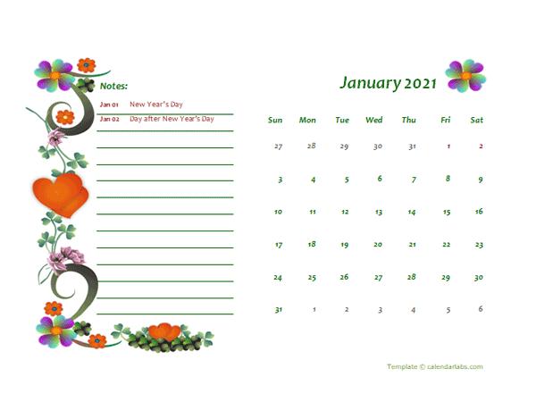 2021 New Zealand Calendar Free Printable Template