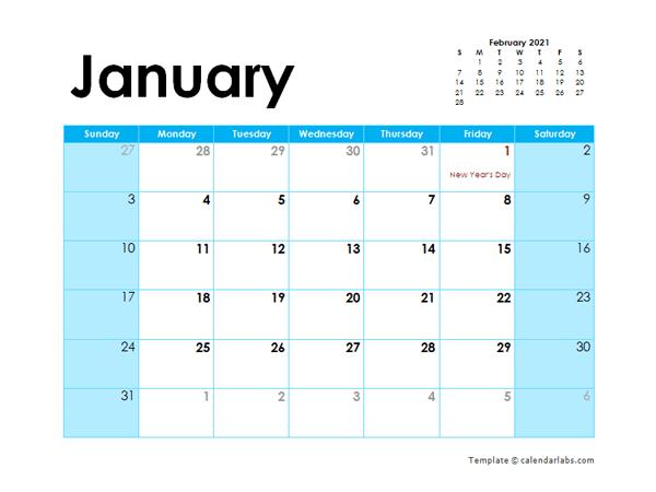 2021 Pakistan Monthly Calendar Colorful Design