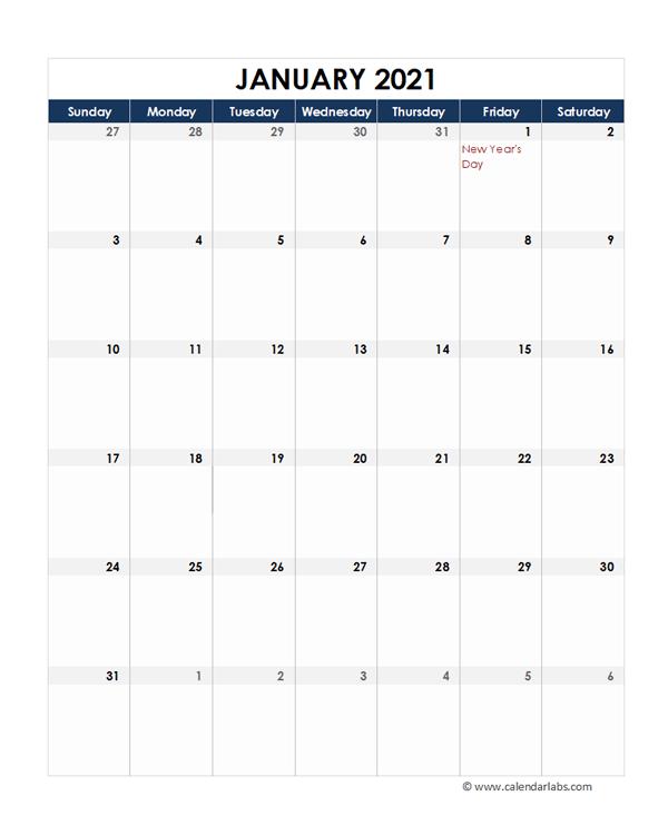 2021 Philippines Calendar Spreadsheet Template - Free ...