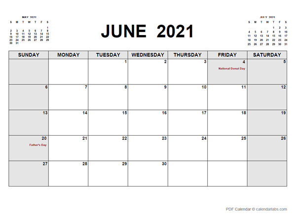 June 2021 Calendar | CalendarLabs