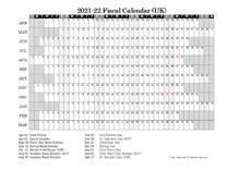 2021 Fiscal Year Calendar
