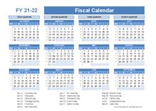 Printable 2021 Fiscal Year Calendar Template Calendarlabs