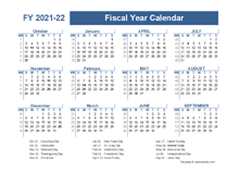 Timeshare Calendar 2022.Printable 2021 Fiscal Year Calendar Template Calendarlabs