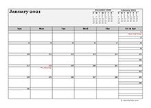 2021 monthly planner landscape