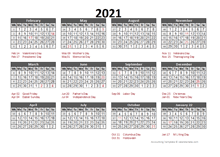 Printable 2021 Accounting Calendar Templates   Calendarlabs