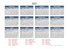 2021 Accounting Period Calendar 4 4 5   Free Printable Templates