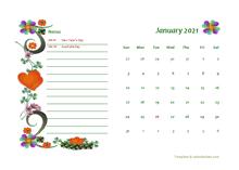 2021 Australia Calendar Free Printable Template