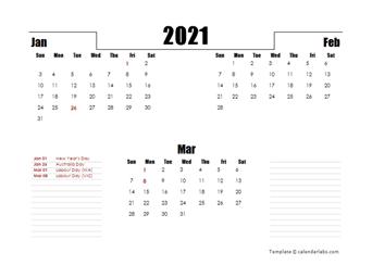2021 Australia Quarterly Planner Template