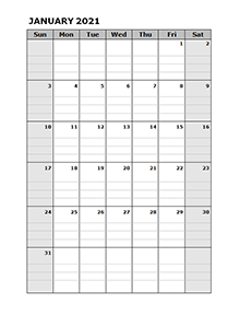 2021 Blank Daily Planner