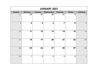 Printable 2021 Blank Calendar Templates   CalendarLabs