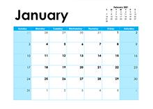 2021 Blank Calendar Colorful Design