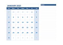 2021 blank printable calendar