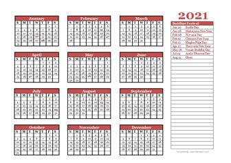buddhist calendar template