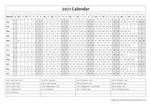 2021 Business Calendar