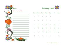 2021 Canada Calendar Free Printable Template