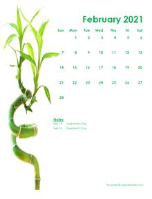 2021 Editable Word Calendar Design Template