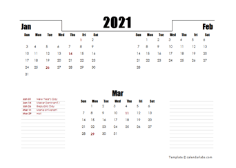 2021 India Quarterly Planner Template