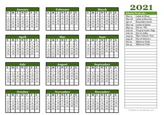 2021 Islamic calendar
