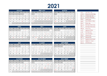2021 Malaysia Annual Calendar with Holidays