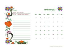 2021 Malaysia Calendar Free Printable Template