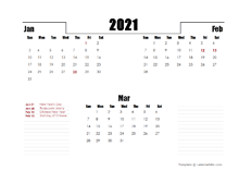 2021 Malaysia Quarterly Planner Template