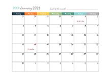 2021 calendar template design boxes
