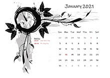 2017 calendar design template with holidays