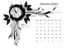2021 monthly calendar design template