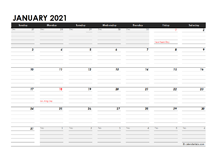 2021 Daily Planner Excel Template