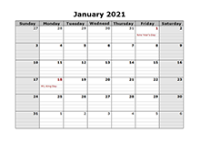 Printable 2021 Monthly Calendar Templates   CalendarLabs