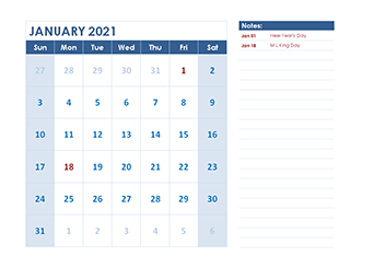 2021 monthly calendar LibreOffice template